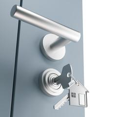 Serratura con chiavi inserite, sicurezza