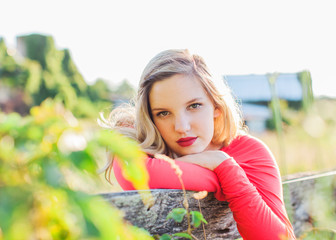 Teen Portrait at a fence