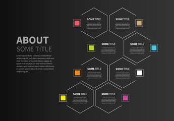 Eight Section Hexagon Infographic Layout 1
