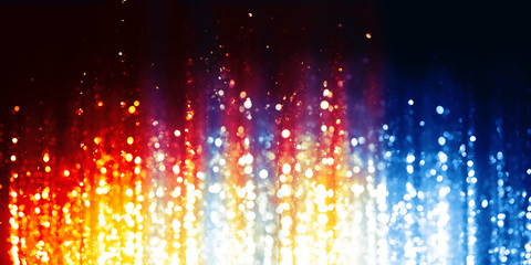 Wall Mural - Fire and Ice abstract lights background