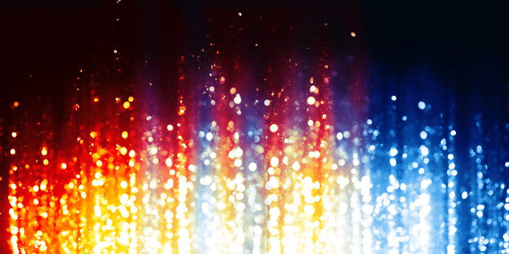 Fire and Ice abstract lights background