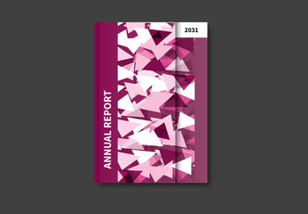 Geometric Book/Report Cover Layout 20