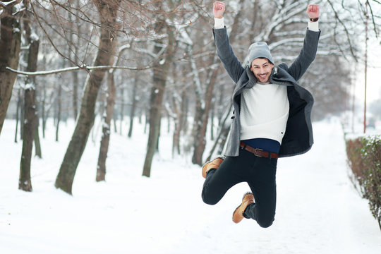 man on winter park