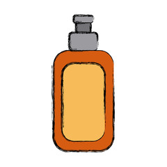 Cream bottle isolated icon vector illustration graphic design