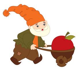 Vector Cartoon Gnome
