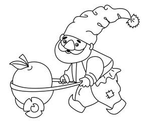 Vector Cute Cartoon Gnome