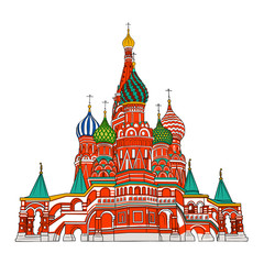 St. Basil's Cathedral. Moscow. Russia