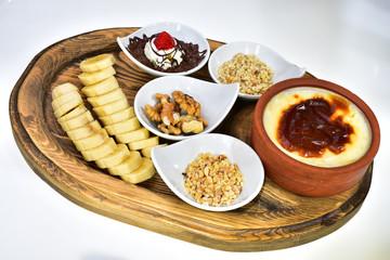 energetic and calorie dessert menu