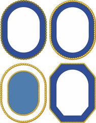 Set of ship emblem crest templates