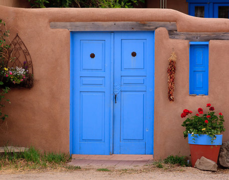 Blue Door in Taos, NM
