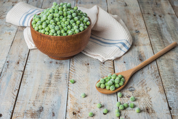 Fresh frozen peas.