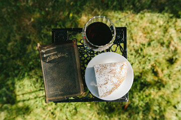 Bible, Bread, and Wine for Communion Ceremony At Wedding