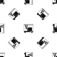 3D printer pattern seamless black