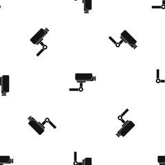 CCTV camera pattern seamless black