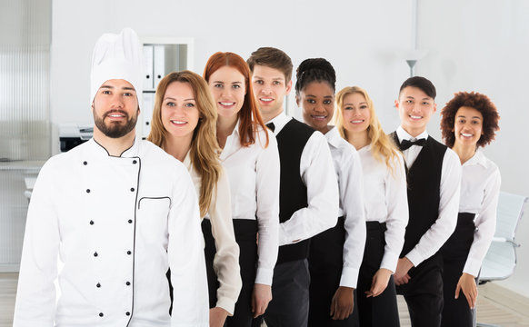 Portrait Of Restaurant Staff