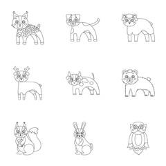 Farm, zoo, ecology and other web icon in outline style.Australia, nature, toys, Australia, nature, toys,