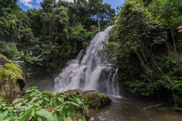 Pha Dok Seaw Waterfall in Mae klang luang village, Doi Inthanon National park, Chiangmai, Thailand.
