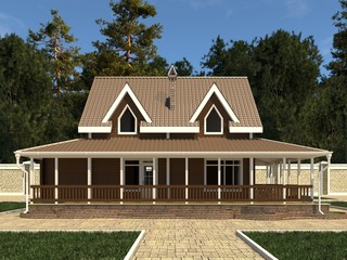House Photo Realistic Render 3D Illustration