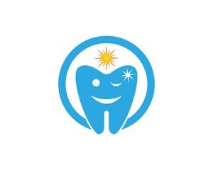 Smile Dental Cartoon Logo Design