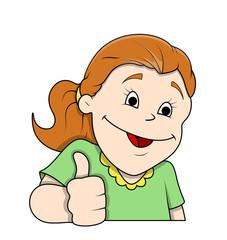 Laughing Cartoon Girl