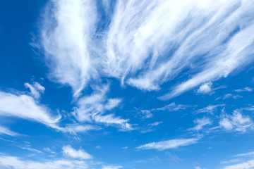 blue sky with white cloud in sunshine day, space for text or message web or architecture design