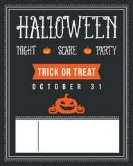 Halloween poster design with black background