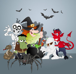 Halloween Monsters party celebration