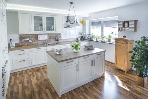 Moderne küche in rustikalem stil stock photo and royalty free images on fotolia com pic 171719351