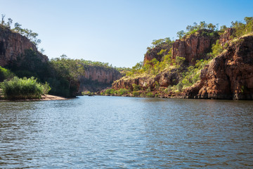 Cruising on the River at Katherine Gorge, Northern Territory, Australia