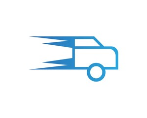 Delivery Car Faster Logo