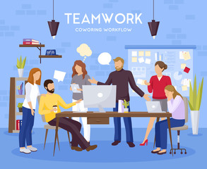 Teamwork Background Illustration