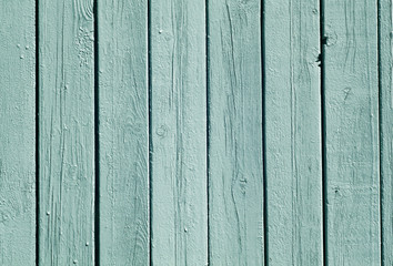 Cyan color wood fence pattern.