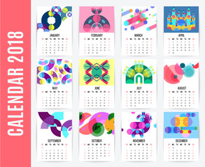 Monthly Calendar Design Set