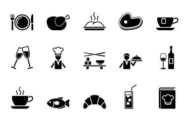 Restaurant Iconset - Schwarz