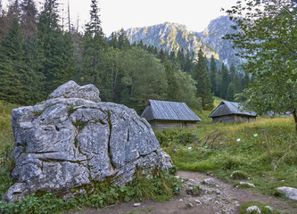 Pastoral sheds in the Strazyska valley in the Tatra Mountain