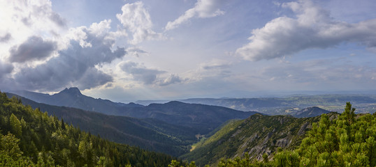 View of Jaworzynka valley in Polish Tatra Mountain