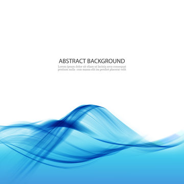 Blue abstract background with water wave