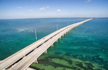 Aerial view of the bridge between Bahia Honda and Spanish Harbor Keys