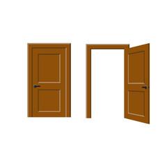 Open and closed door