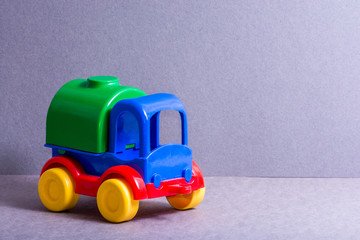 Toy truck. Toys for little children.