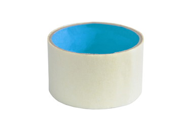 adhesive tape roll on white background