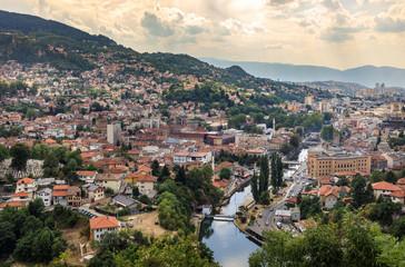 Panoramic view on Sarajevo - Bosnia and Herzegovina