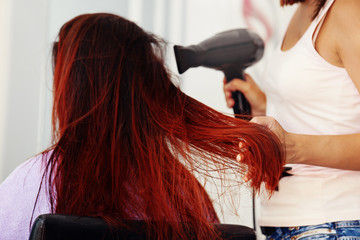 Beautiful Woman at Hairdresser