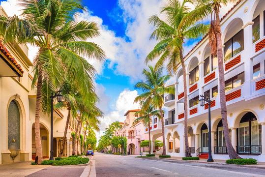 Worth Ave Palm Beach Florida USA