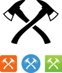 Fire Axe Icon - Illustration