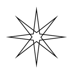 Abstract Star Frame Design