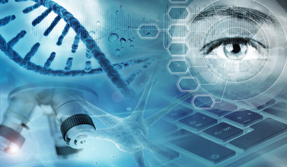genetic analysis concept background