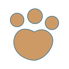 feline paw footprint isolated icon