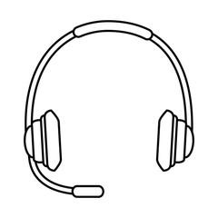 headset communication isolated icon