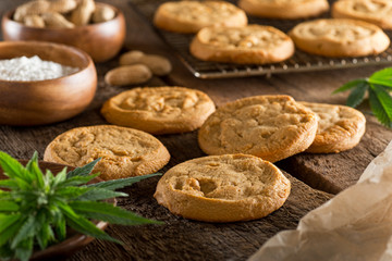 Photo sur Toile Biscuit Marijuana Cookies
